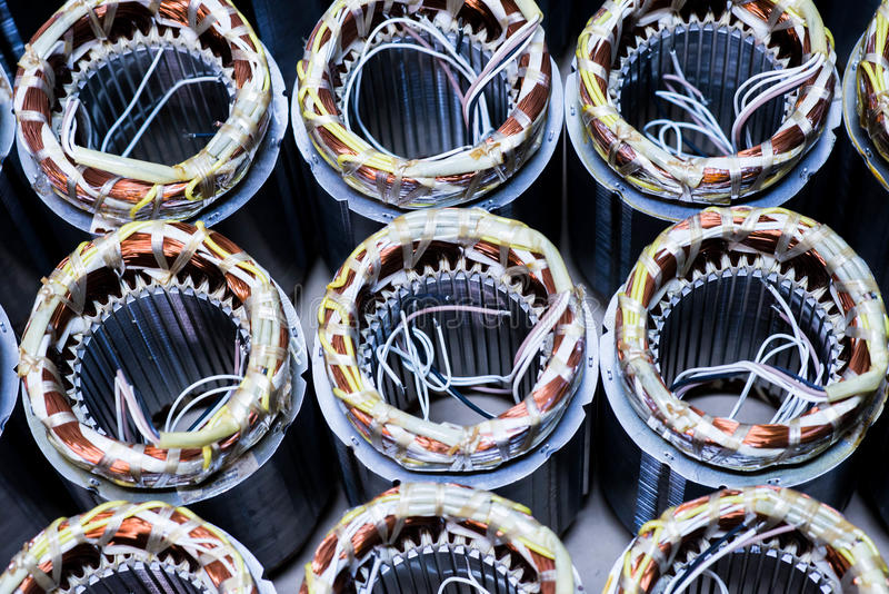 Electric motor copper stock image