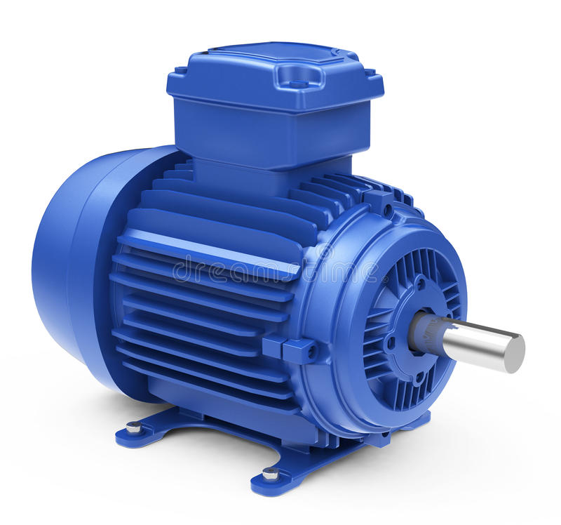 The electric motor. 3d generated picture of an electric motor royalty free illustration