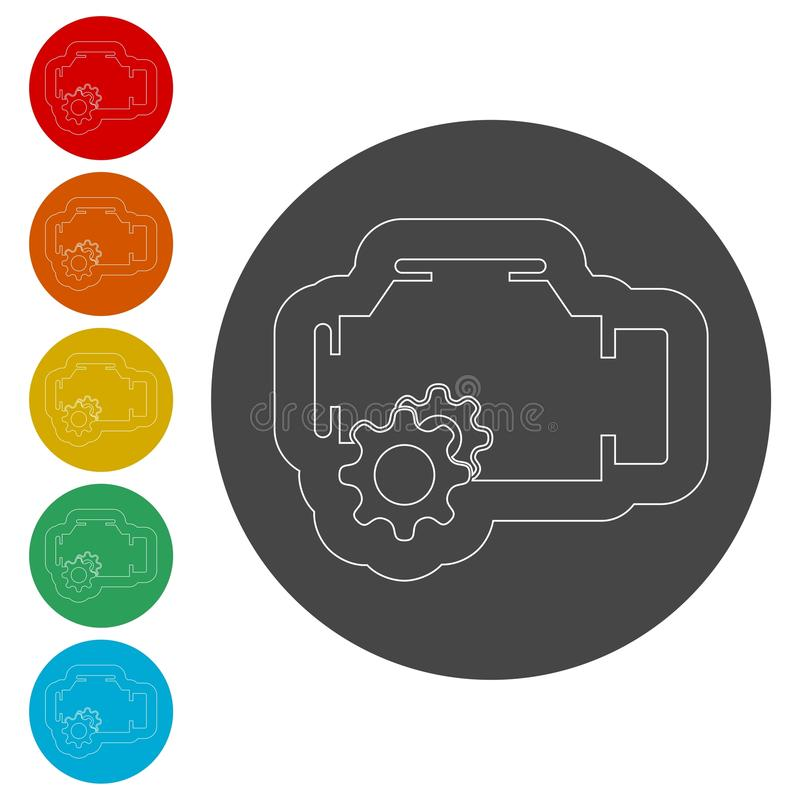 Electric motor icon. Simple icons set vector illustration