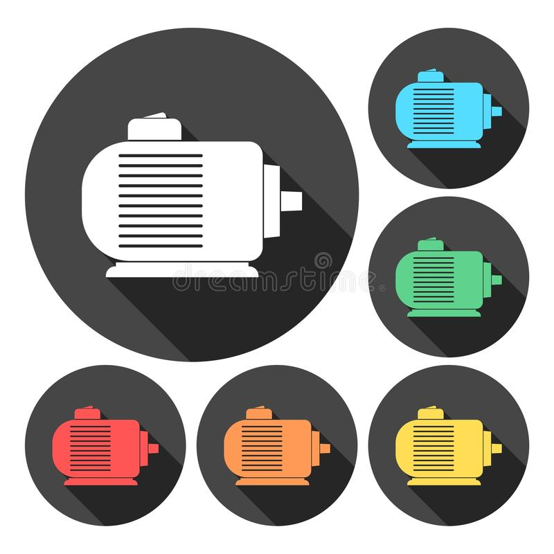 Electric motor icons set. Vector icon vector illustration