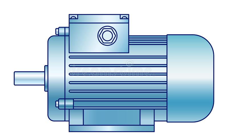 Electric motor illustration royalty free stock images