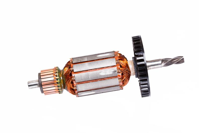 Electric motor rotor isolated on white. High resolution photo stock photos