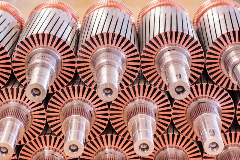 The electric motor rotor of stock stock images