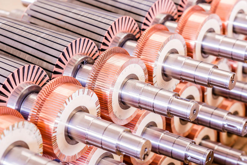 The electric motor rotor of stock stock photo