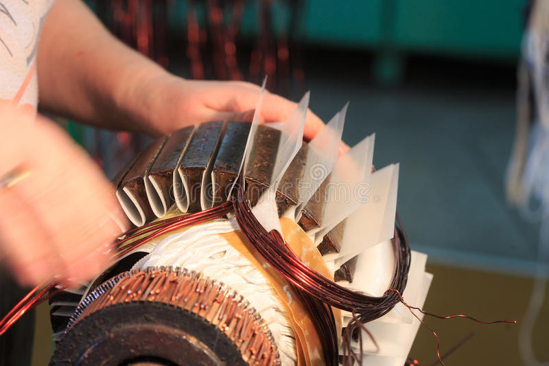 Electric motor rotor of stock. royalty free stock image