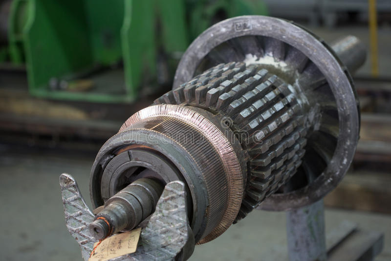 The electric motor rotor of stock. stock photos