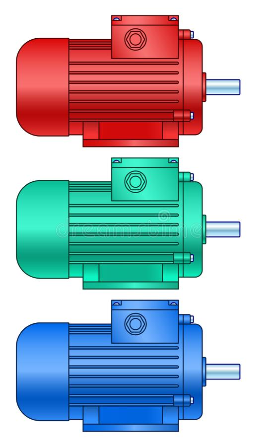 Electric motor set royalty free stock images