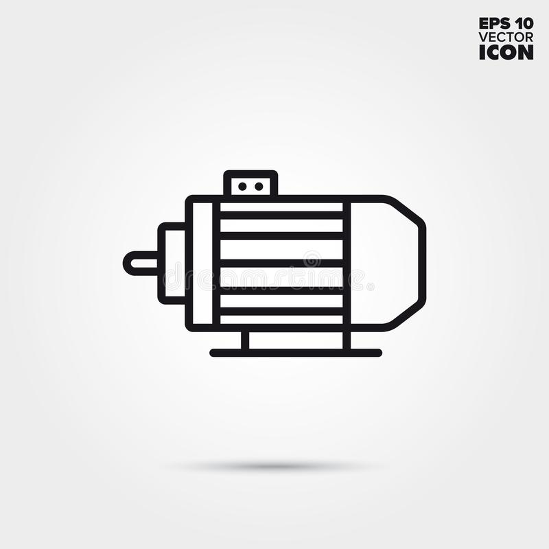 Electric motor vector line icon. Electric motor line icon. Electronic component vector symbol vector illustration