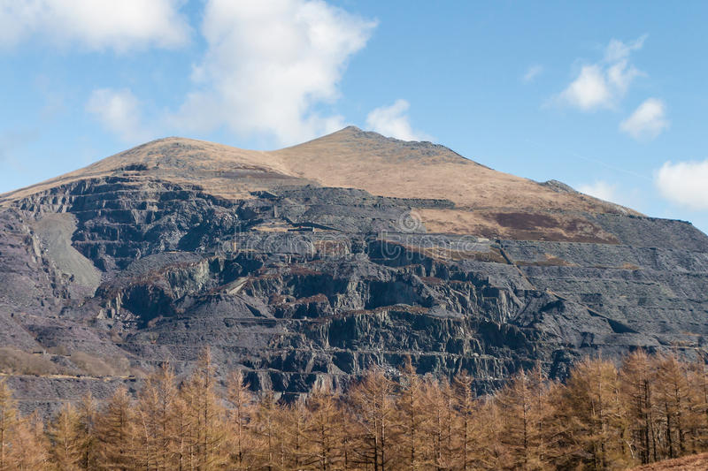 Electric Mountain, Snowdonia National Park, Wales, UK stock images