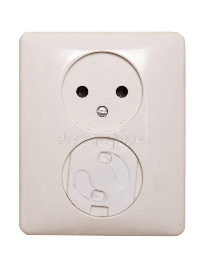 Download Electric Outlet, 1 Has A Child Safeguard Royalty Free Stock Images - Image: 22467029