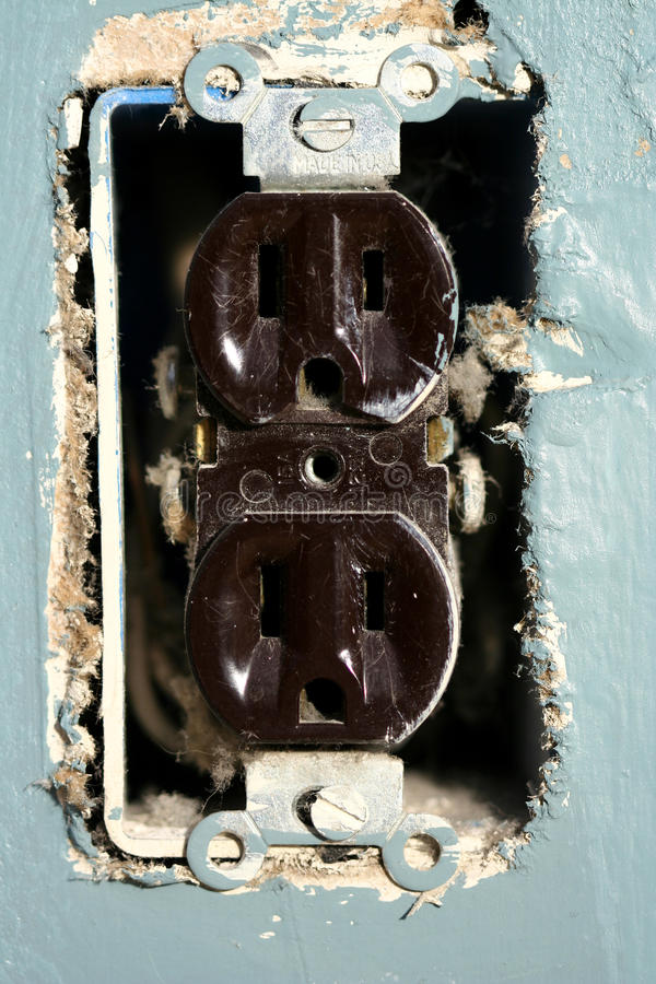 Electric outlet royalty free stock images