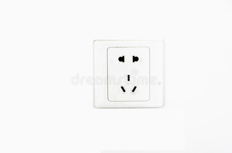 Electric Outlet Wall Socket Plug Receptacle stock photography