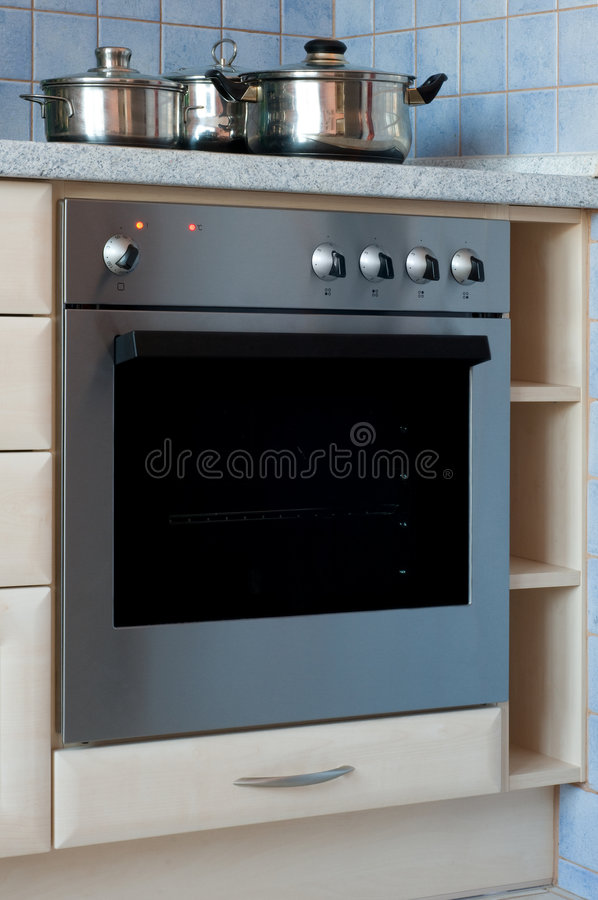 Electric oven stock photo
