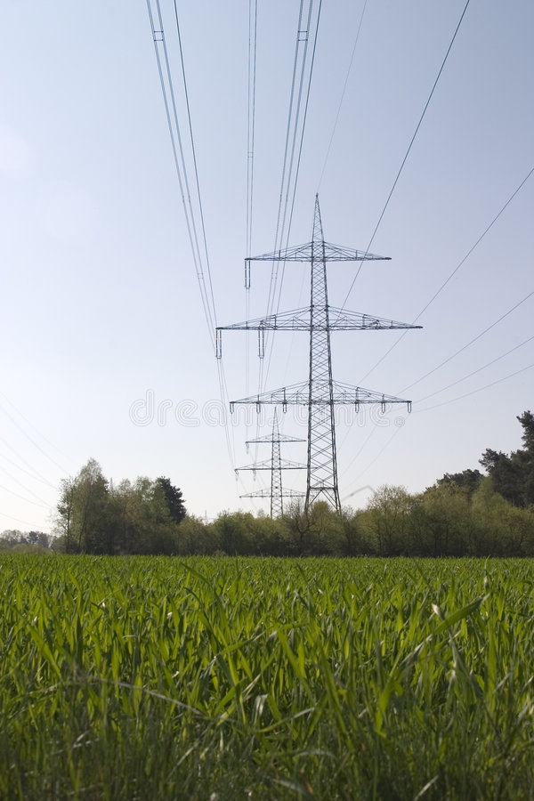Download Electric Overland Power Lines Stock Photo - Image: 649262