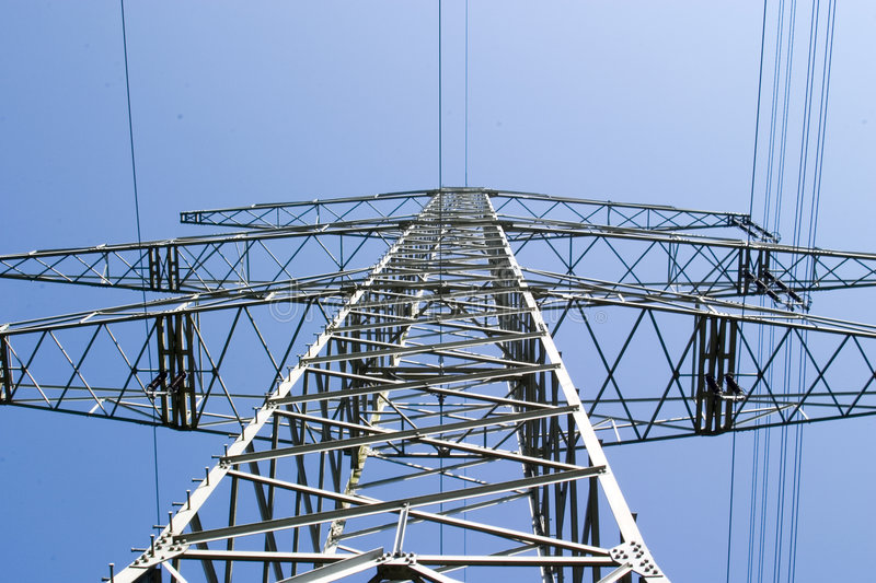 Download Electric Overland Power Mast Stock Photo - Image: 649298