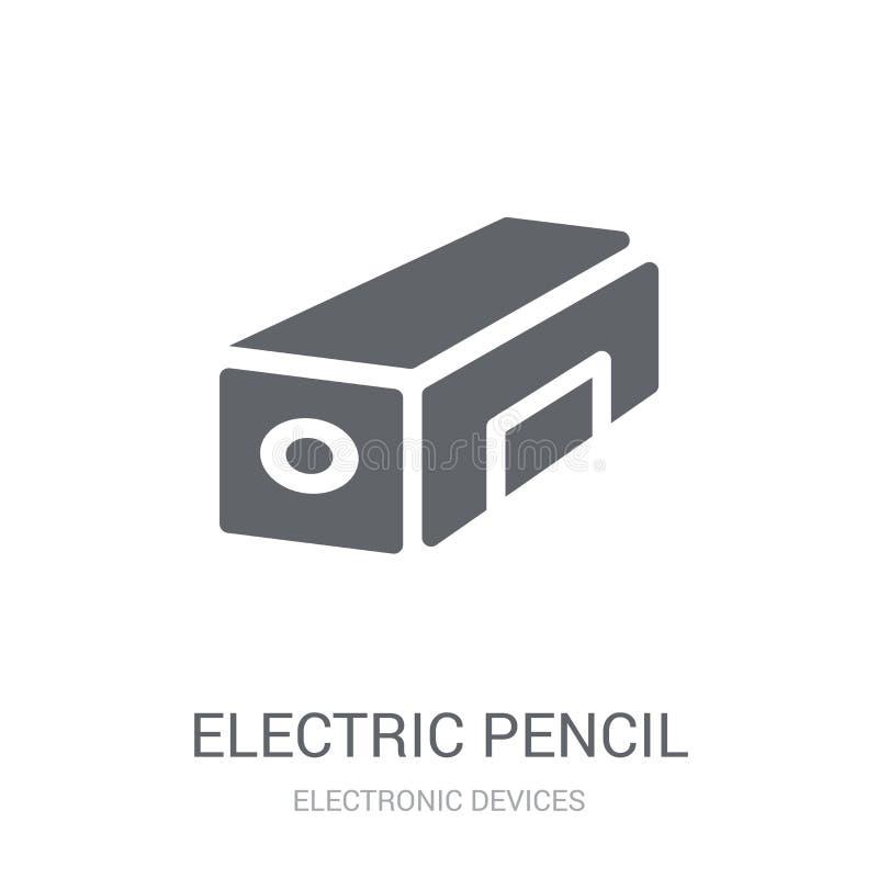 electric pencil sharpener icon. Trendy electric pencil sharpener vector illustration
