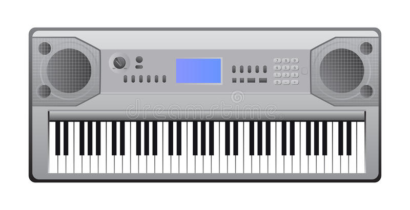 Electric Piano Royalty Free Vector