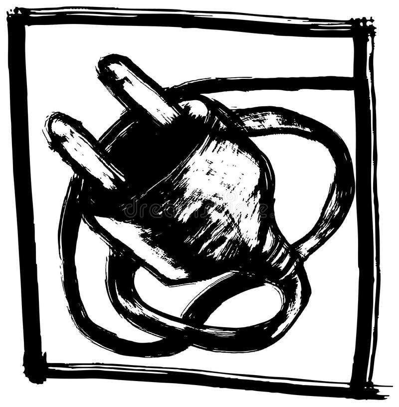 Electric-plug royalty free illustration