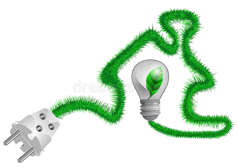 Download Electric Plug On The Grass Cord Stock Image - Image of electric, supply: 30924359