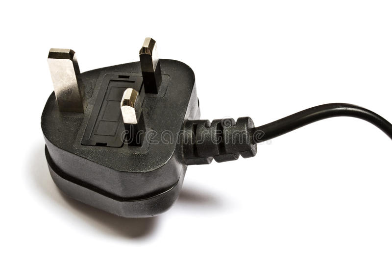 Electric plug isolated on the white royalty free stock photos