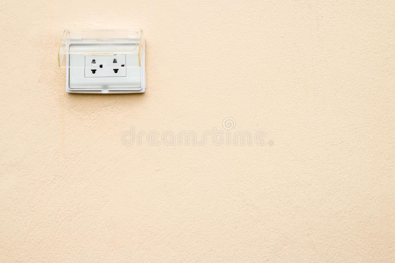Electric Plug Outside The House. Stock Photo - Image of plug ...