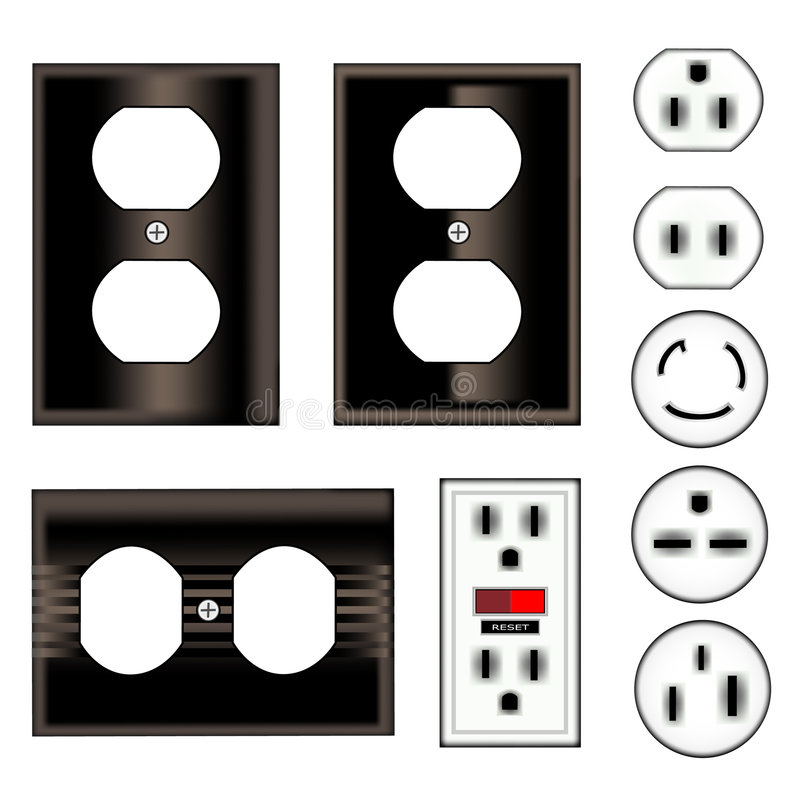 Electric Plugs vector illustration