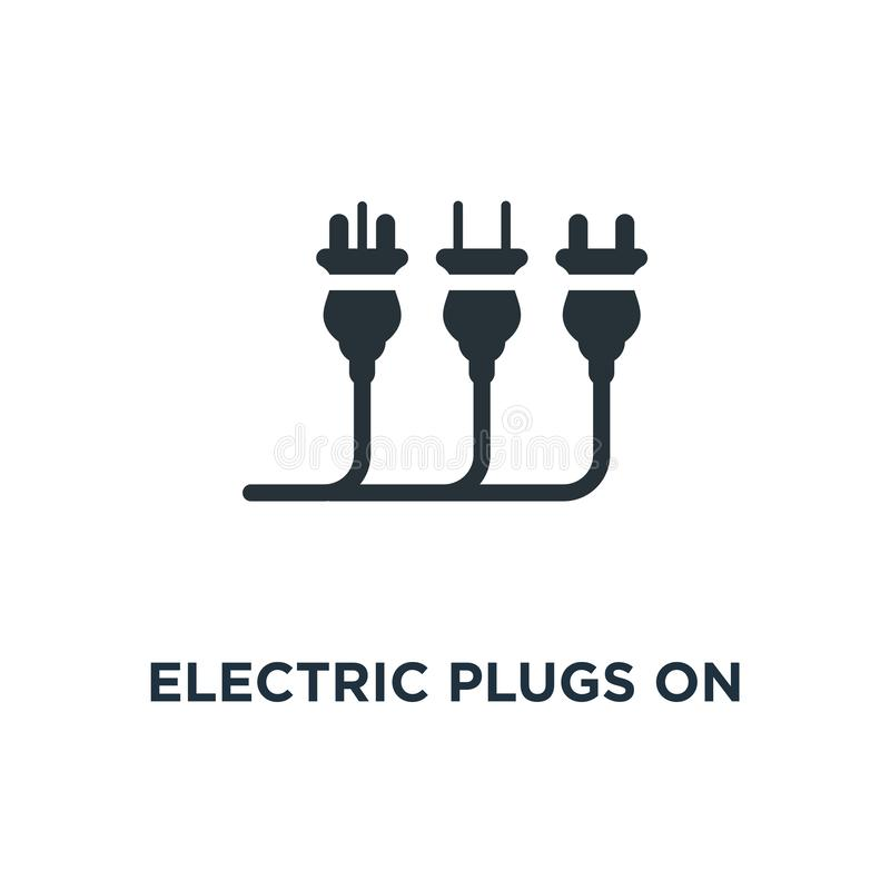 electric plugs on white icon. electric plugs on white concept sy vector illustration