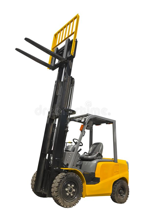 Electric pneumatic forklift royalty free stock image
