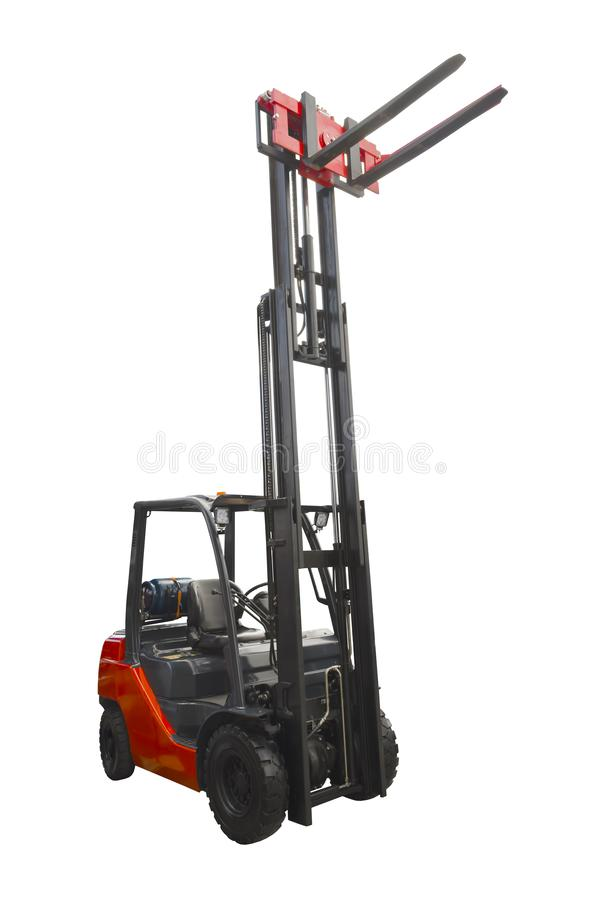 Electric pneumatic forklift stock photo