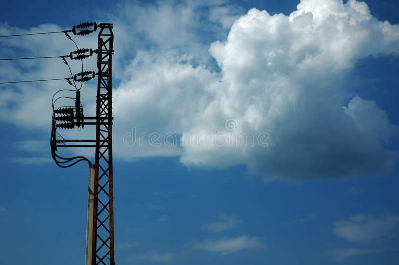 Download Electric pole stock image. Image of electric, pole, cable - 168373