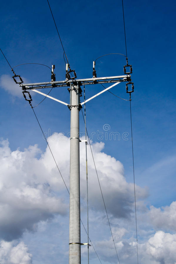 Download Electric pole and clouds stock photo. Image of high, cables - 20476984