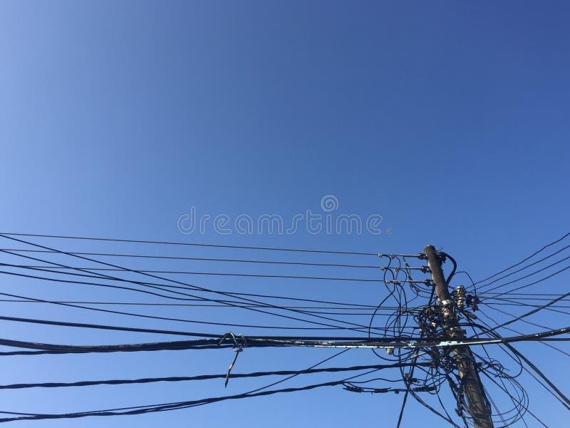 electric pole stock photos