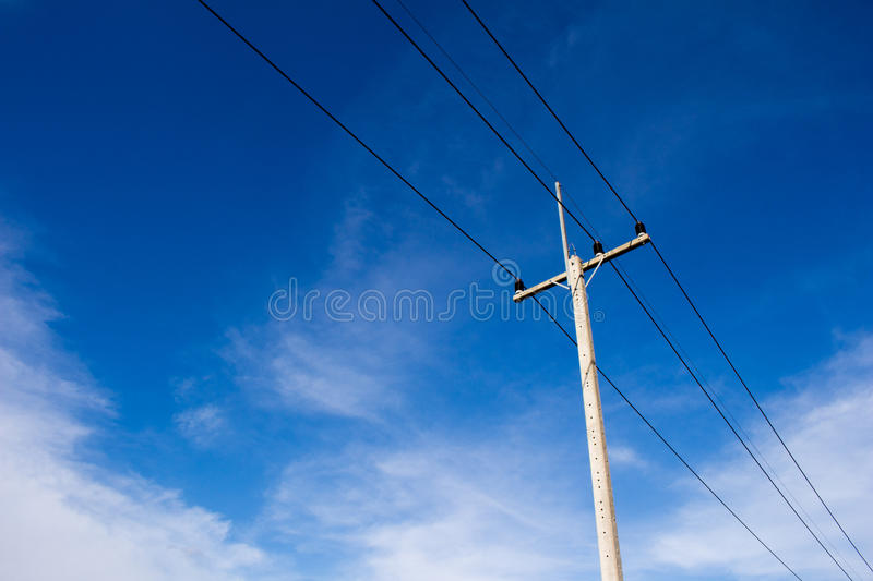 Electric pole stock illustration
