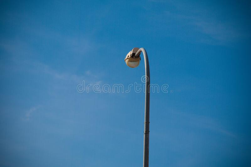Electric pole, sky background stock images