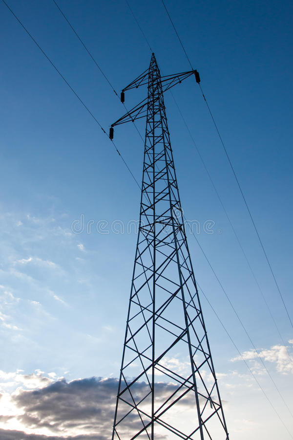 Download Electric poles stock image. Image of blue, cables, construction - 25765759