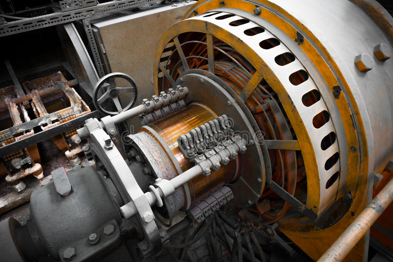 Electric power generator. An electric power generator, dynamo detail, component royalty free stock photos