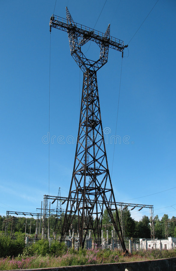 Electric Power Line Royalty Free Stock Photo