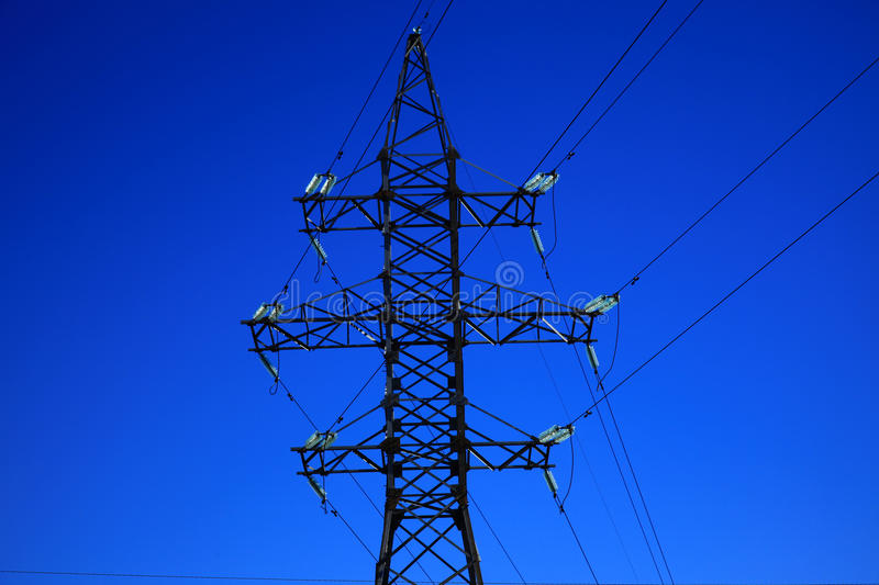 Electric power line. Close up stock image