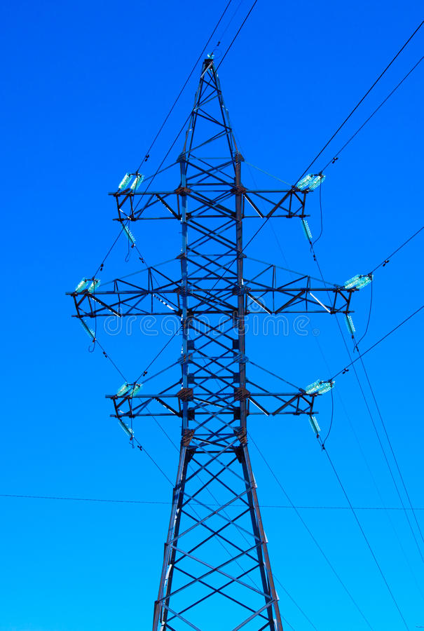 Electric power line. Close up stock images