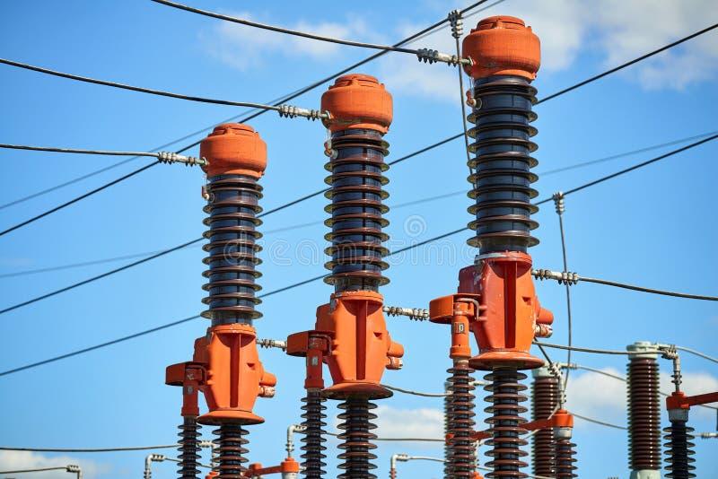 Electric Power-Post stock afbeelding