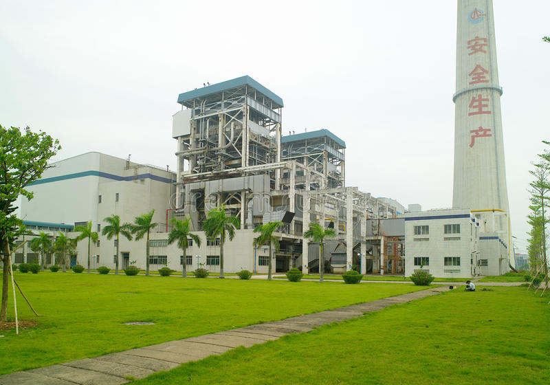 Download Electric power station stock image. Image of high, line - 20897347
