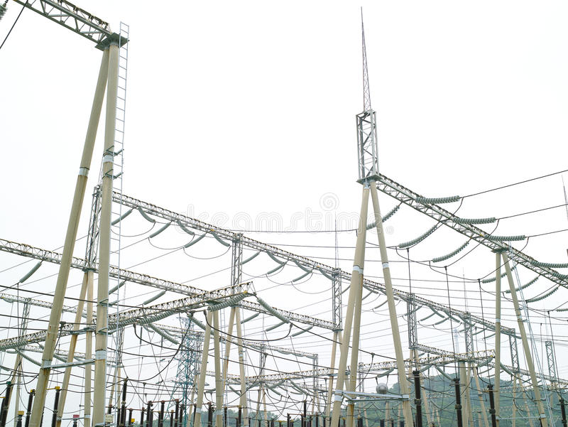 Download Electric power station stock image. Image of transformation - 20897409