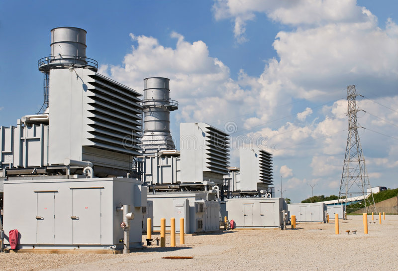 Electric Power Substation stock image
