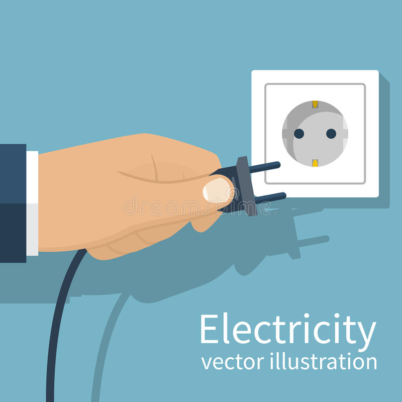 Electric Power tappa illustrazione vettoriale