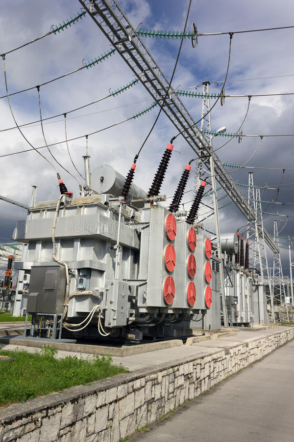 Free Electric Power Transformers Royalty Free Stock Image - 45695516
