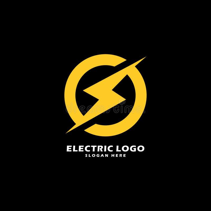 Electric power vector logo design element. Concept design template royalty free illustration