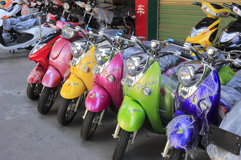 Download Electric powered scooter editorial stock image. Image of amoy - 34176564