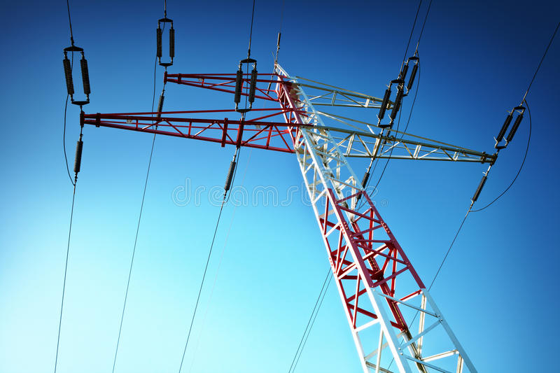 Download Electric Pylon stock image. Image of metal, technology - 24702509
