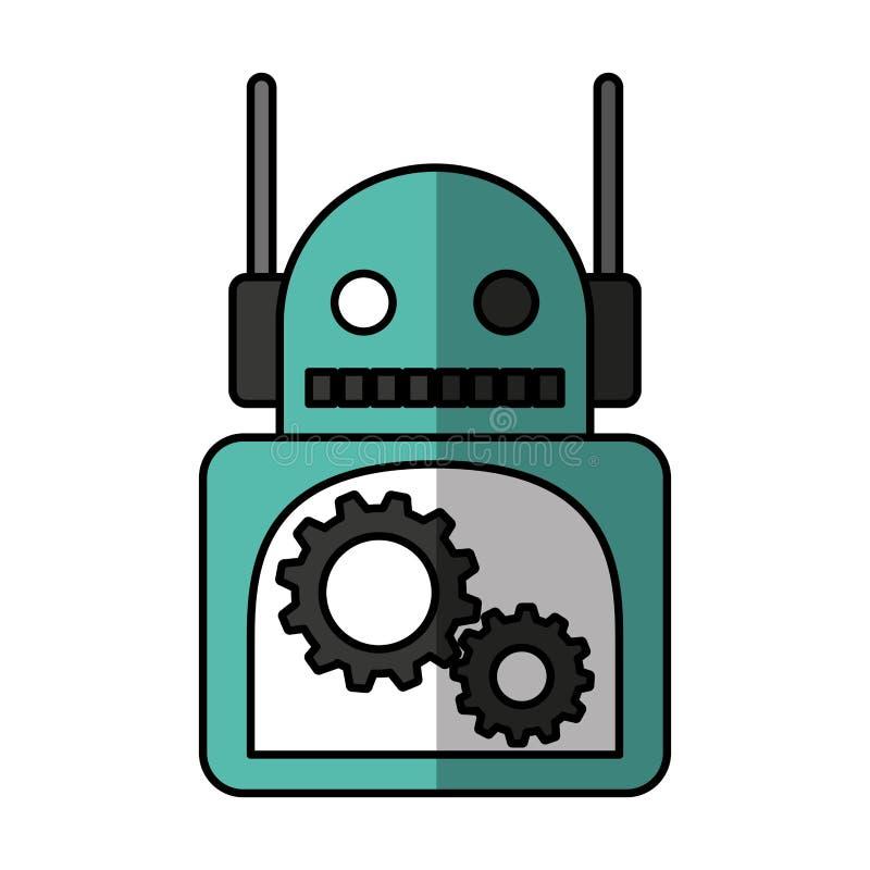 Electric robot avatar character. Vector illustration design vector illustration