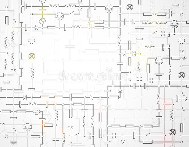 The electric scheme. Electrical circuit scheme with space for text. Eps 10 royalty free illustration